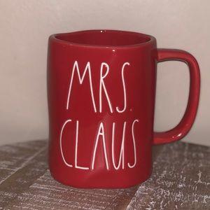 Rae Dunn Red Mrs. Claus Mug